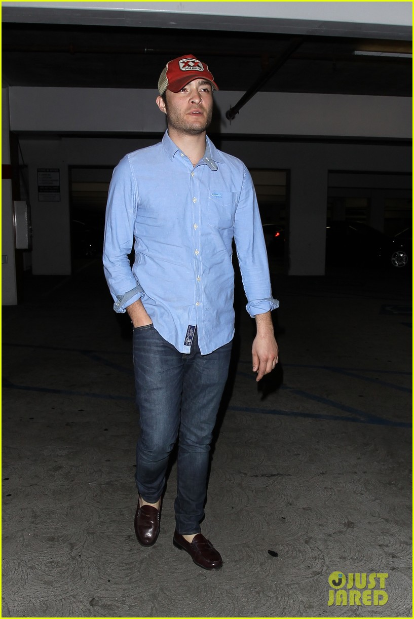 ed westwick solo movie theater outing 052838193