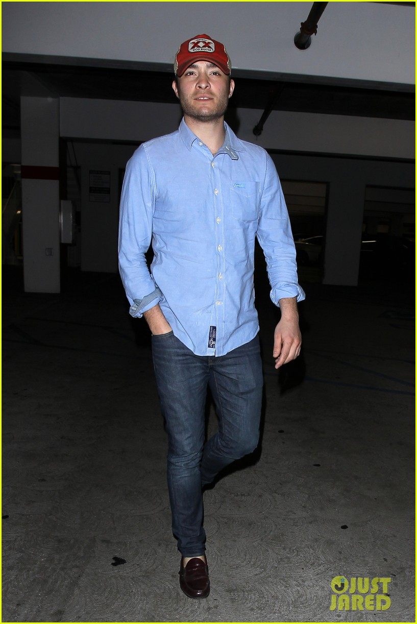 ed westwick solo movie theater outing 072838195
