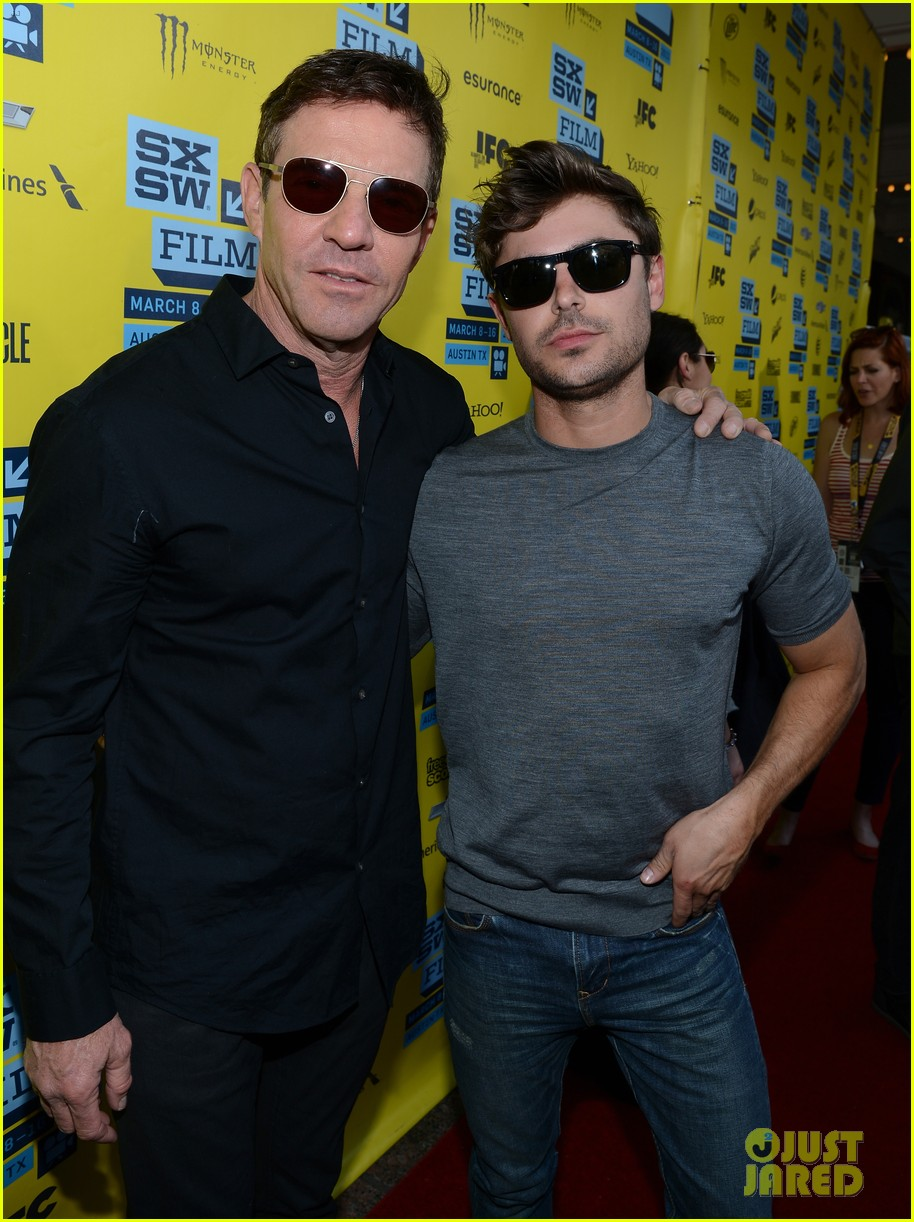 zac efron dennis quaid at any price sxsw premiere 122831797