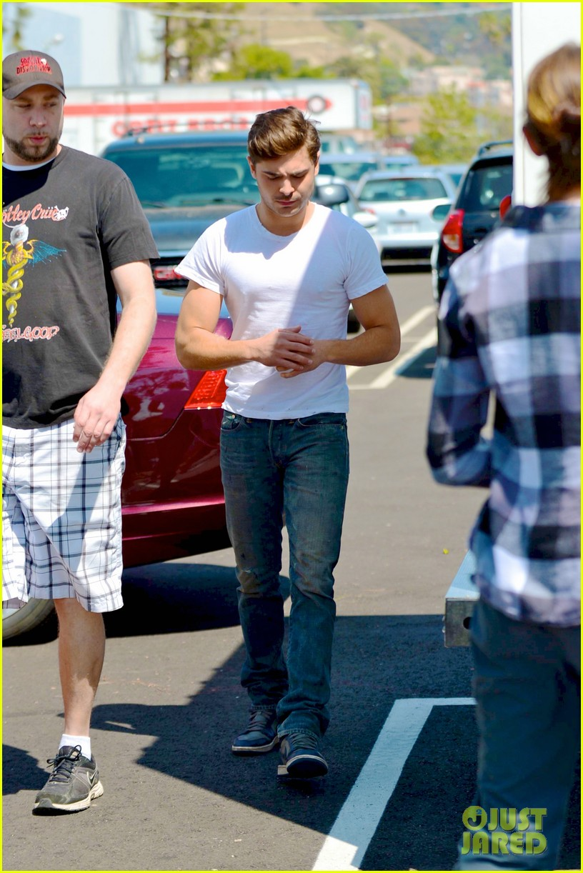 zac efron tight white t on townies set 012839274