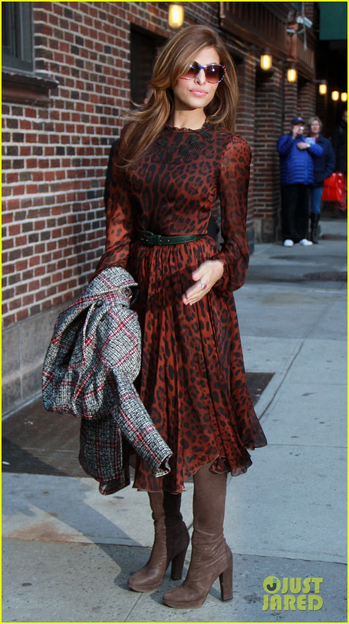 eva mendes late show appearance 062834407