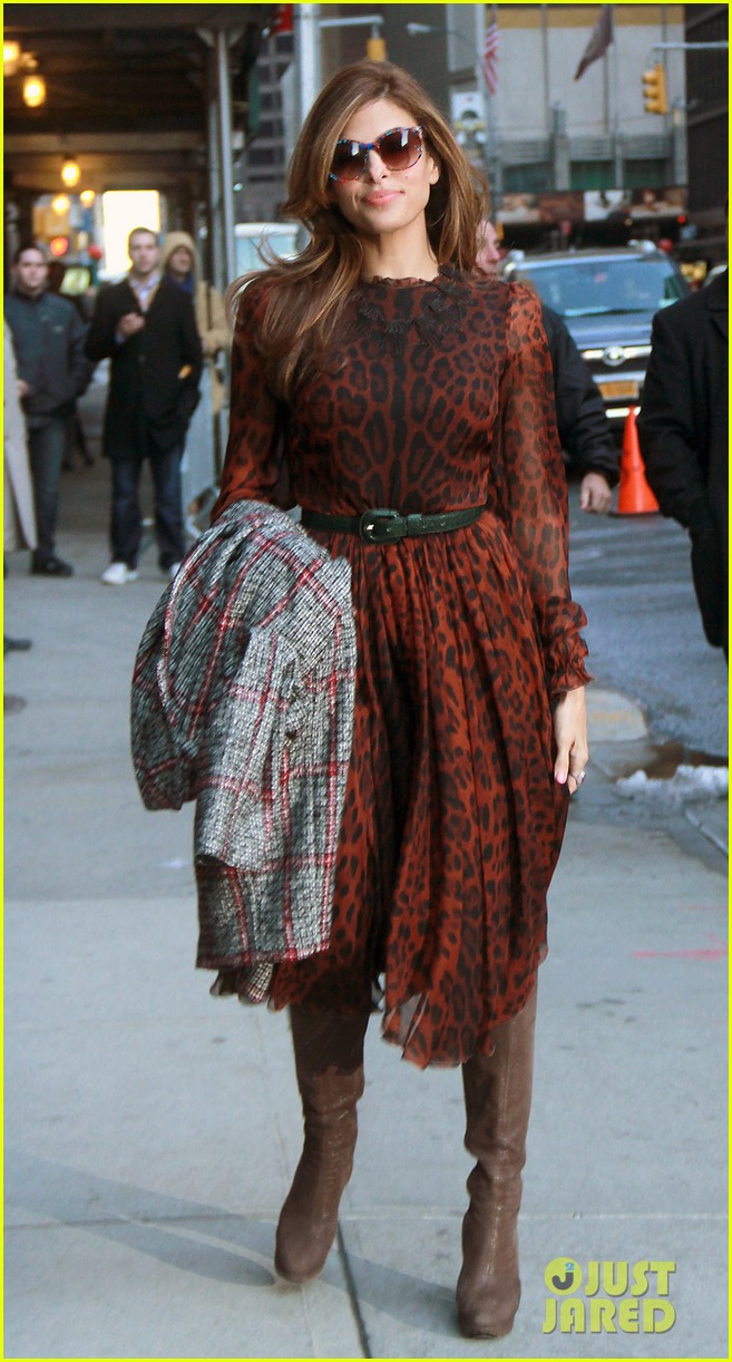 eva mendes late show appearance 092834410