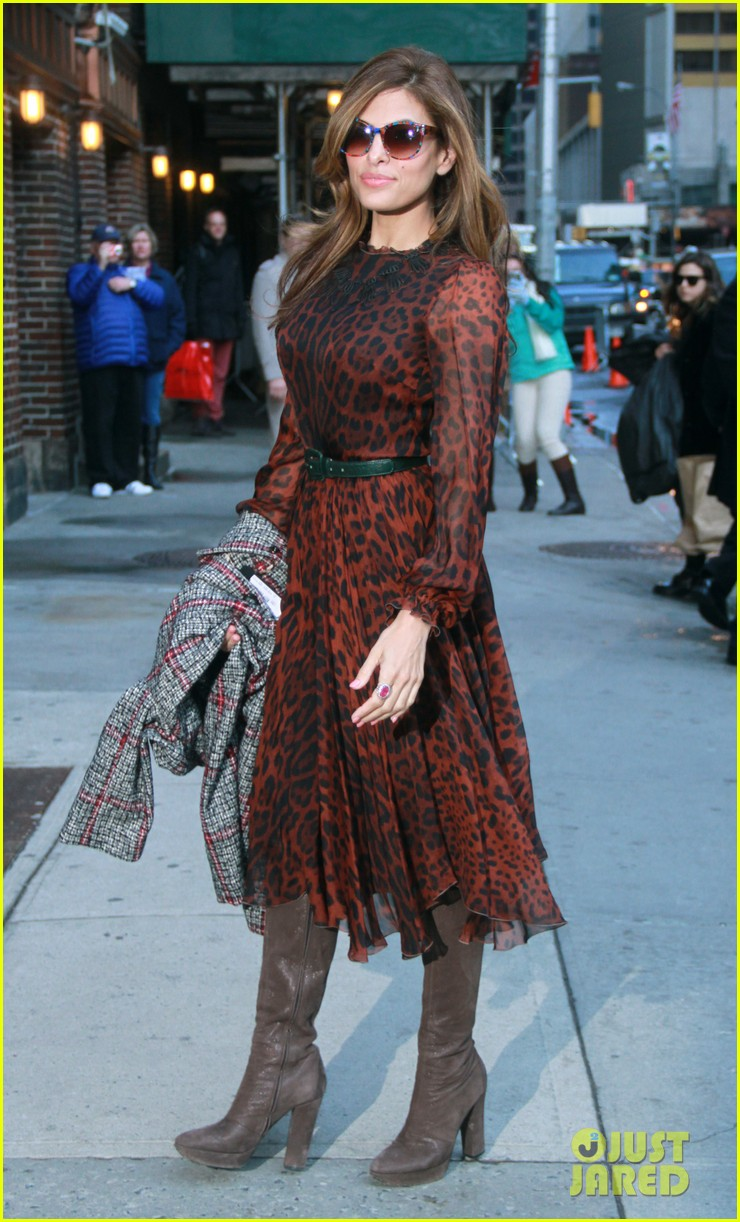 eva mendes late show appearance 112834412