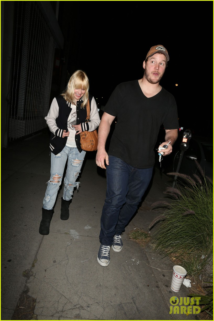 anna faris chris pratt birthday party pair 012823427