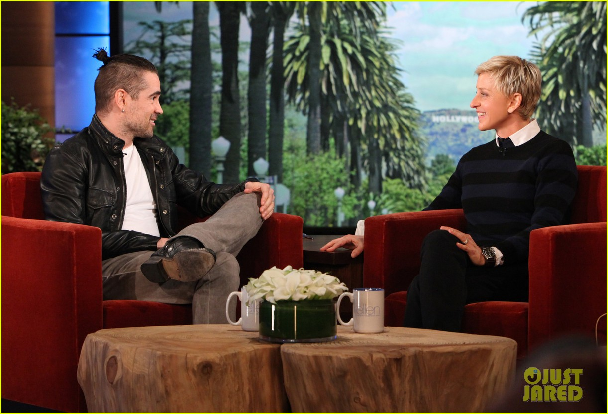 colin farrell wears revealing underwear on ellen 012826470