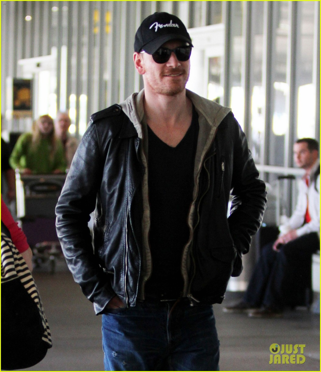 michael fassbender fender fellow at lax 022823446