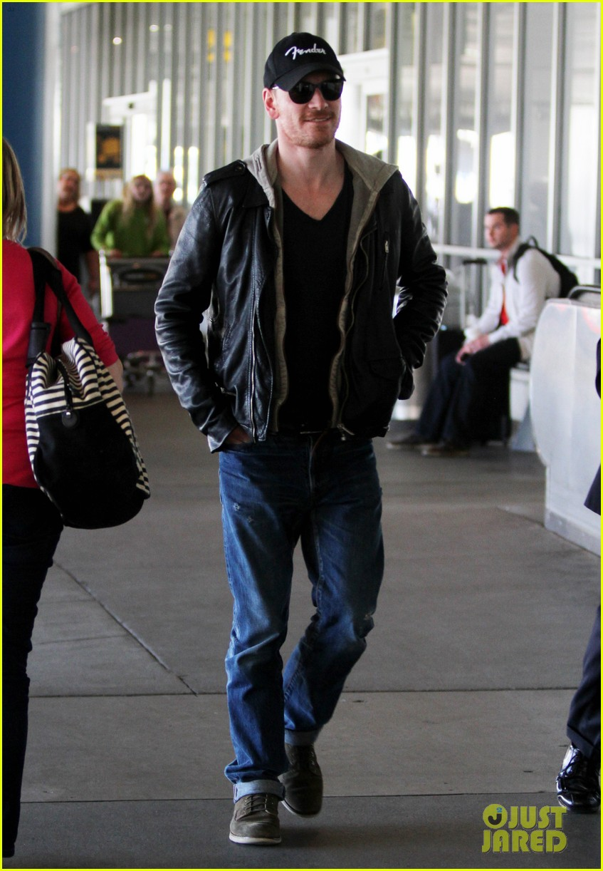 michael fassbender fender fellow at lax 04