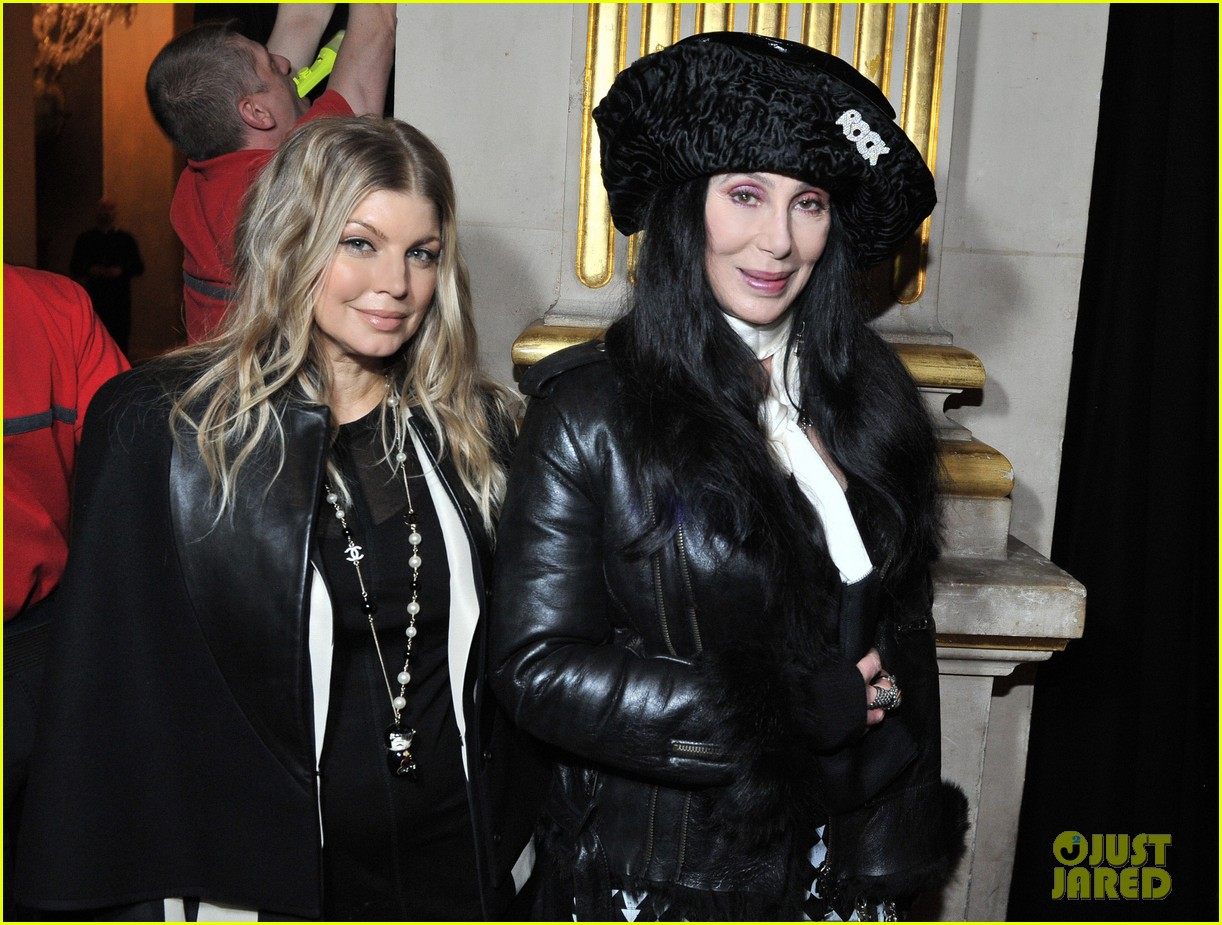 fergie balmain fashion show with cher 092822981