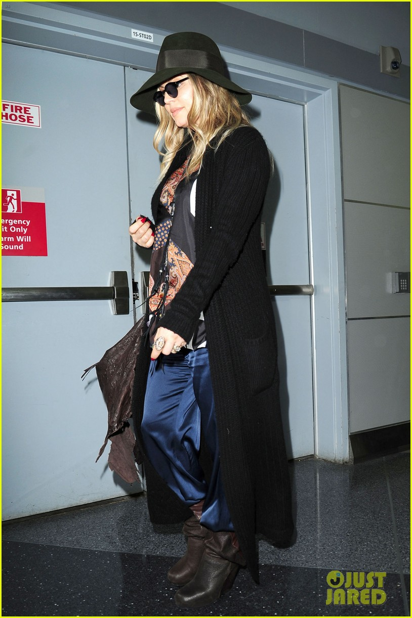 fergie nyc arrival for gma 012834945