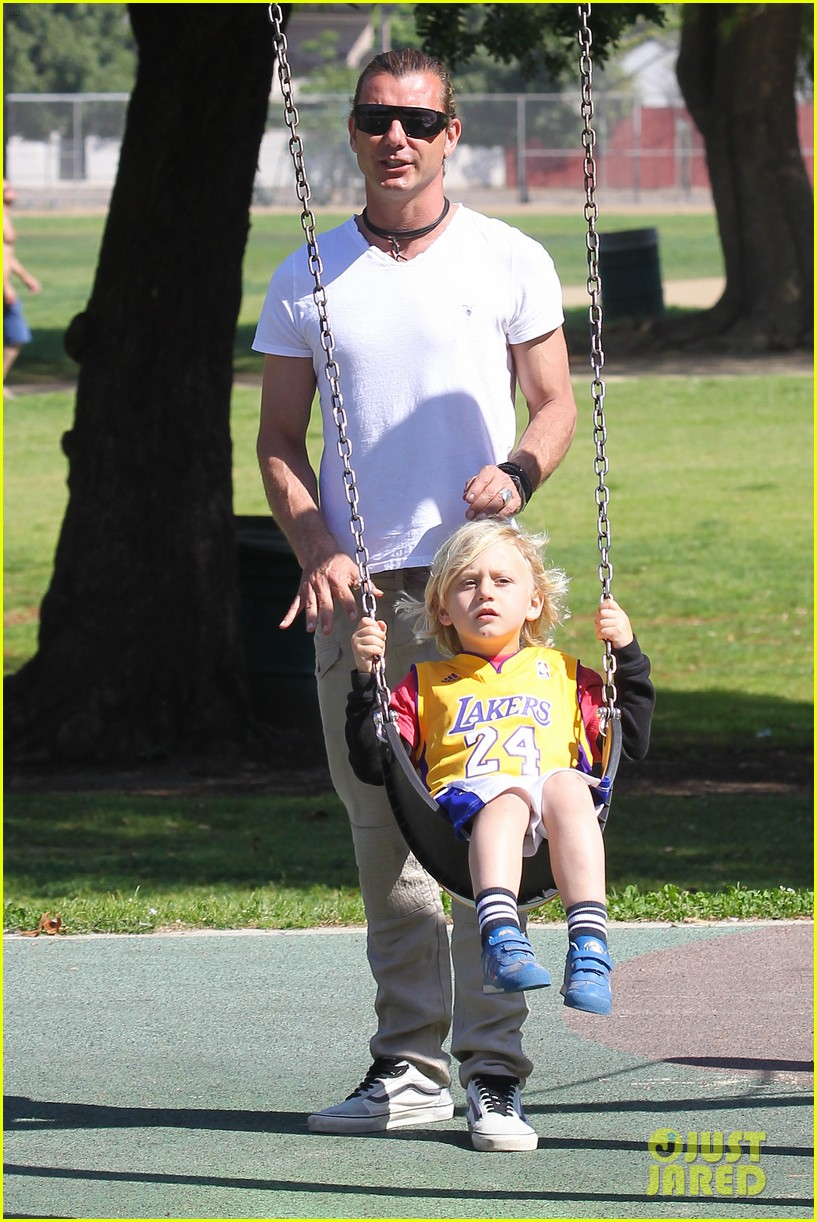 gwen stefani gavin rossdale family fun at the park 132837293