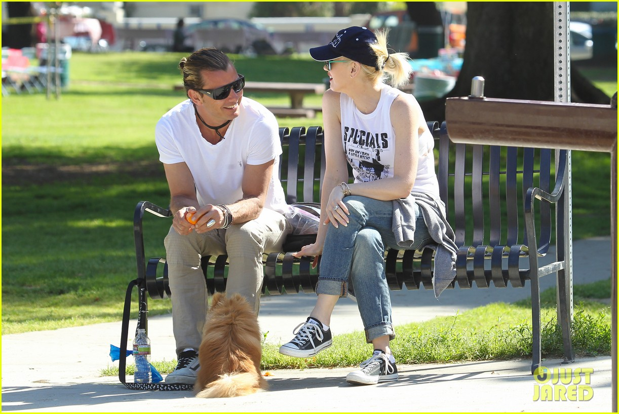 gwen stefani gavin rossdale family fun at the park 142837294