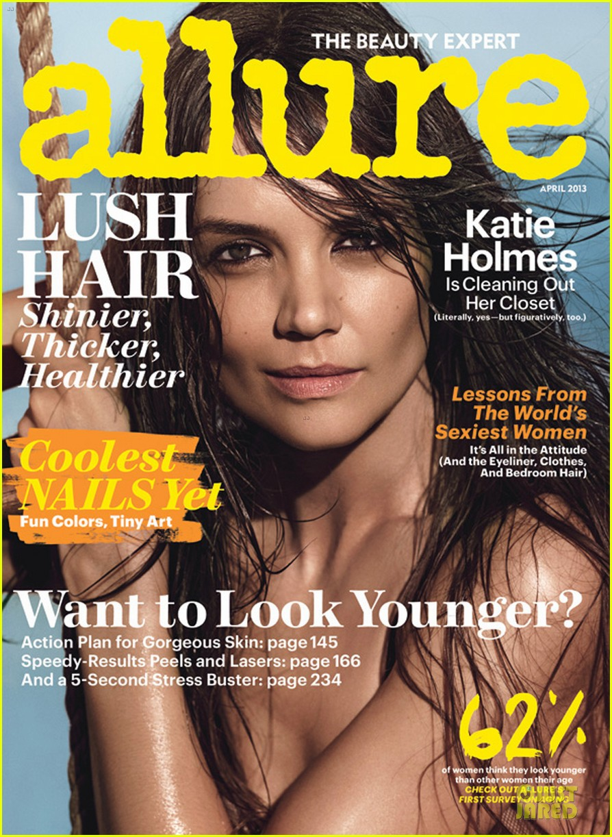 katie holmes topless allure cover april 2013 032833050