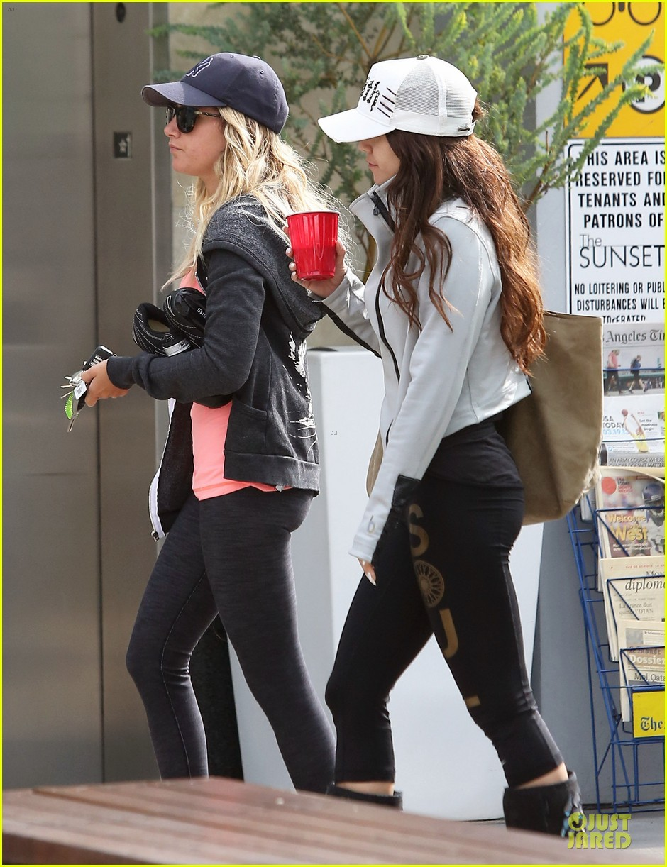 vanessa hudgens gym workout with ashley tisdale 162833935