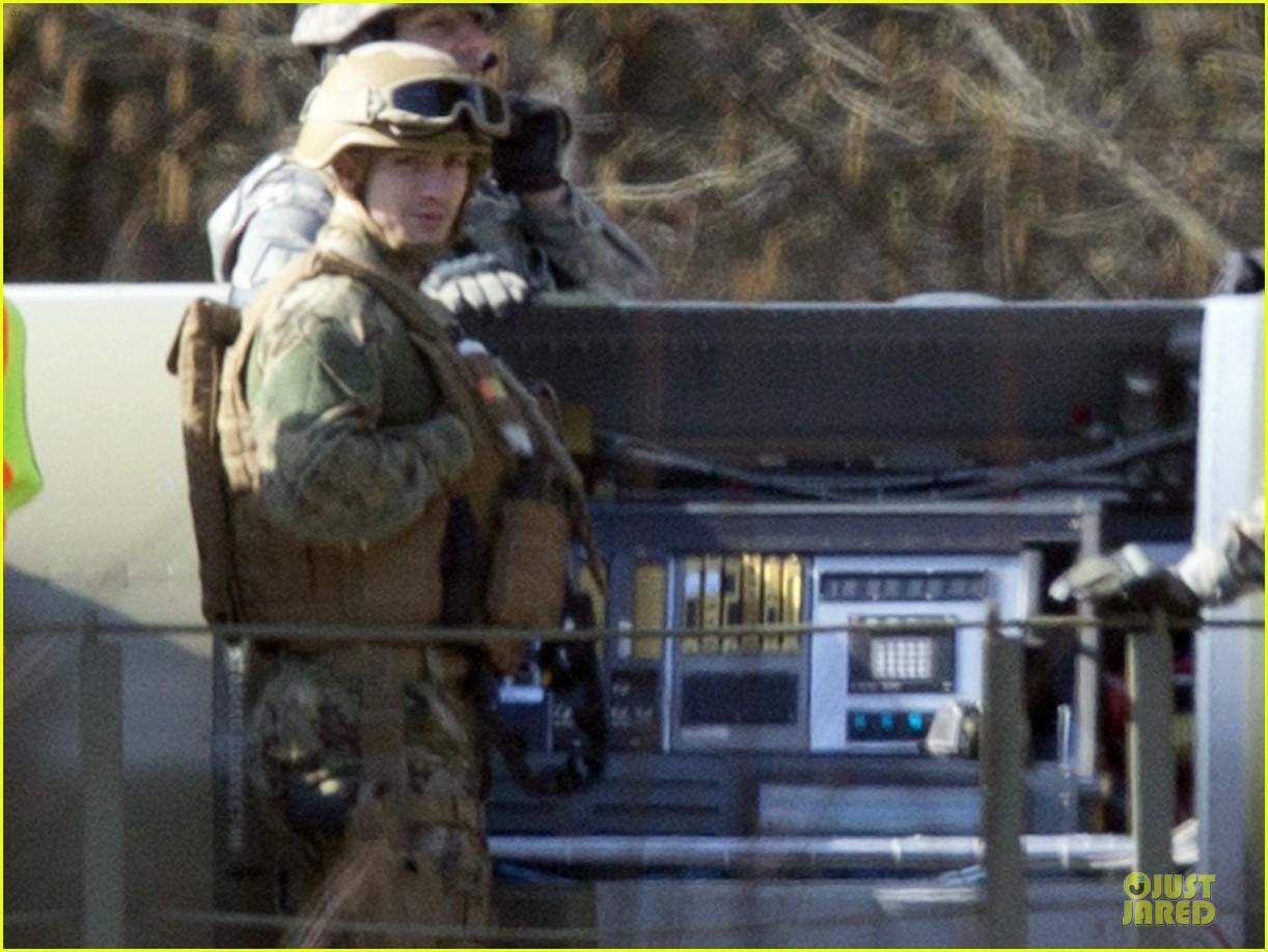 aaron taylor johnson military uniform on godzilla set 132835973