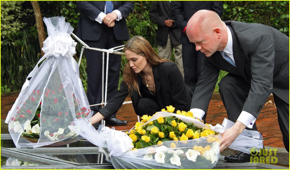 angelina jolie gisozi genocide memorial visit 012838221