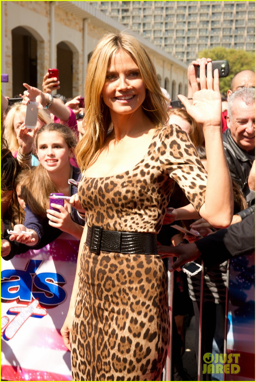 heidi klum mel b americas got talent texas auditions 212834745
