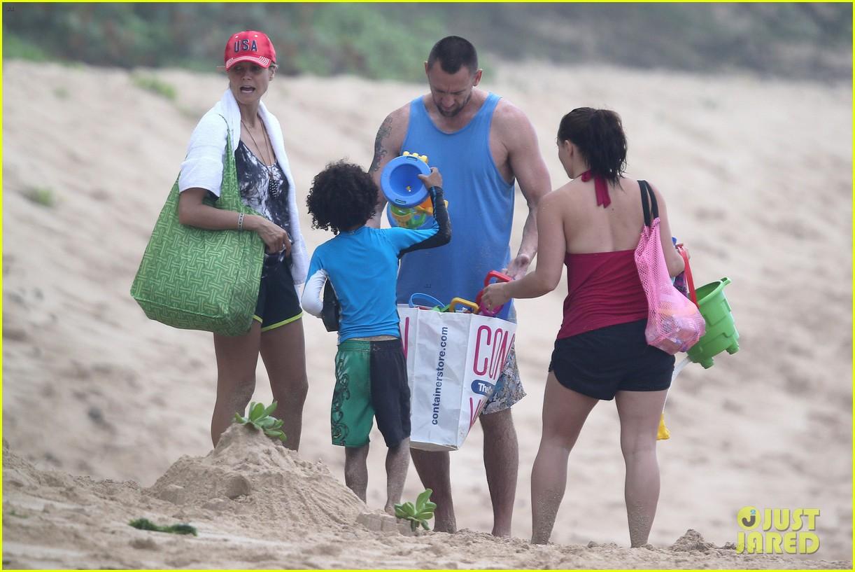 heidi klum martin kirsten hawaii beach day with the family 072838117