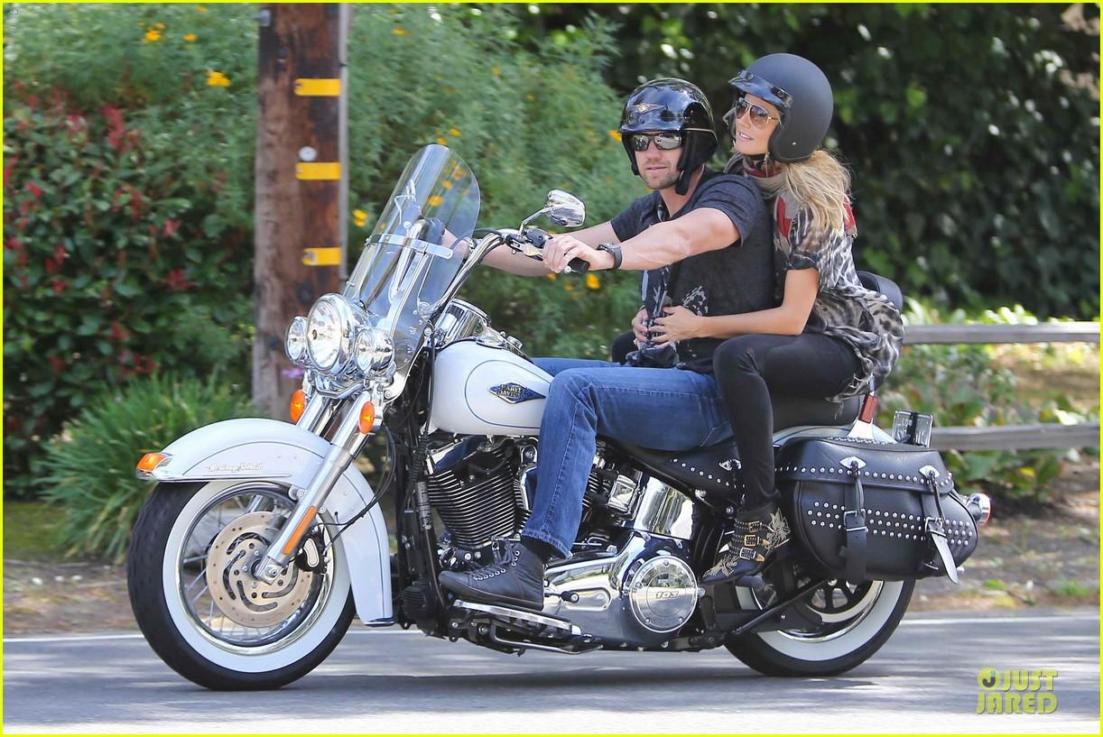heidi klum martin kirsten brentwood motorcycle ride 282823846