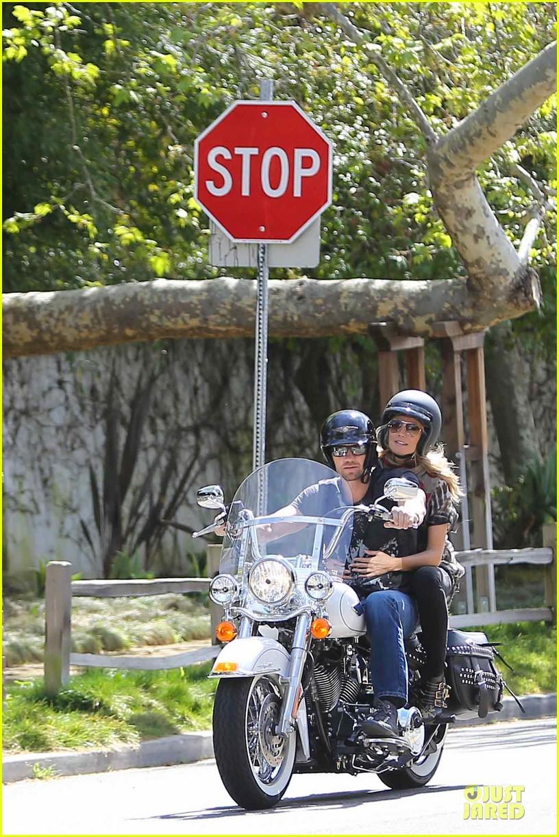 heidi klum martin kirsten brentwood motorcycle ride 292823847