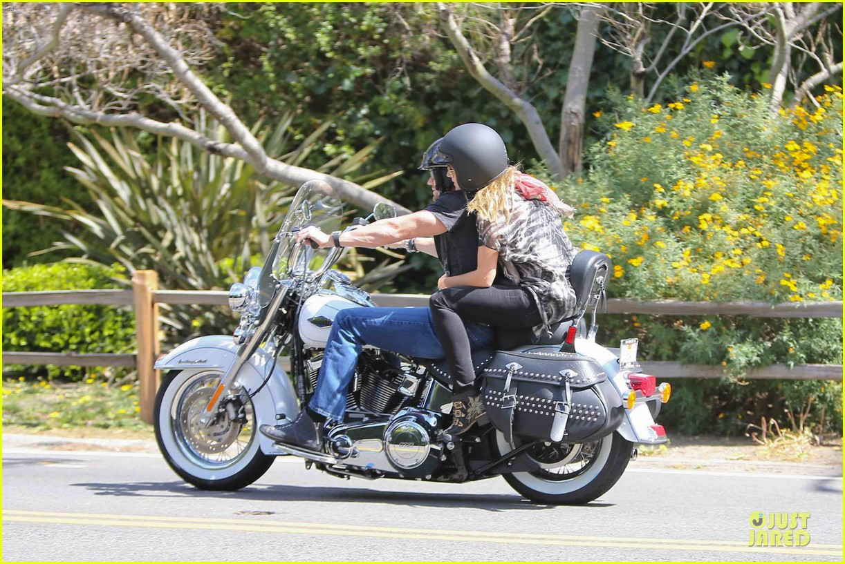 heidi klum martin kirsten brentwood motorcycle ride 302823848