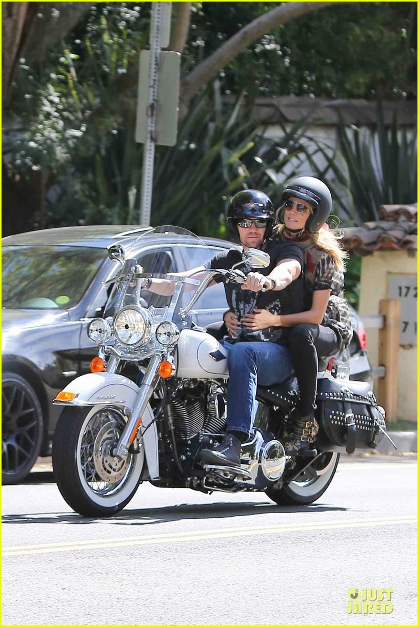 heidi klum martin kirsten brentwood motorcycle ride 332823851
