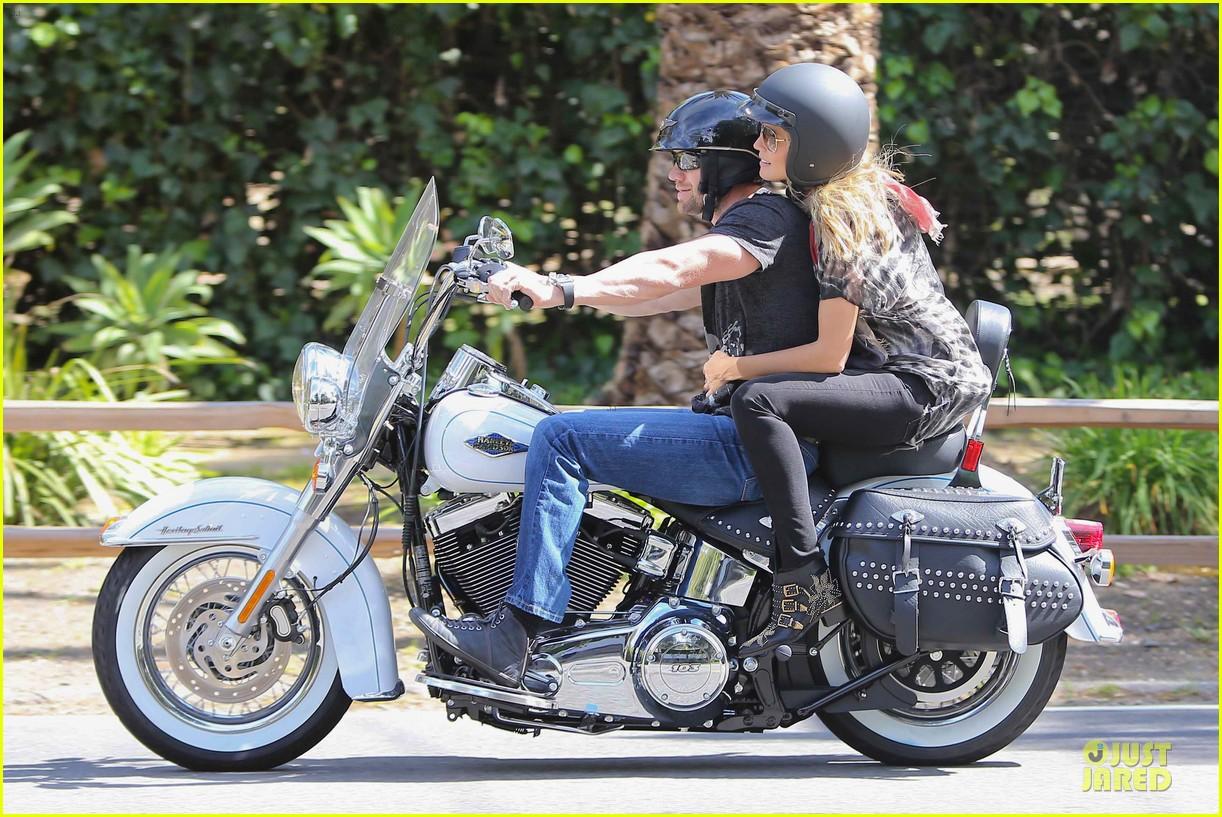 heidi klum martin kirsten brentwood motorcycle ride 352823853