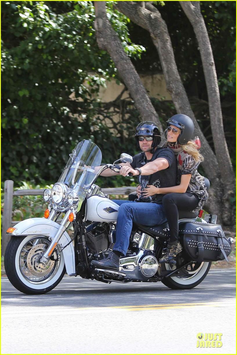 heidi klum martin kirsten brentwood motorcycle ride 362823854