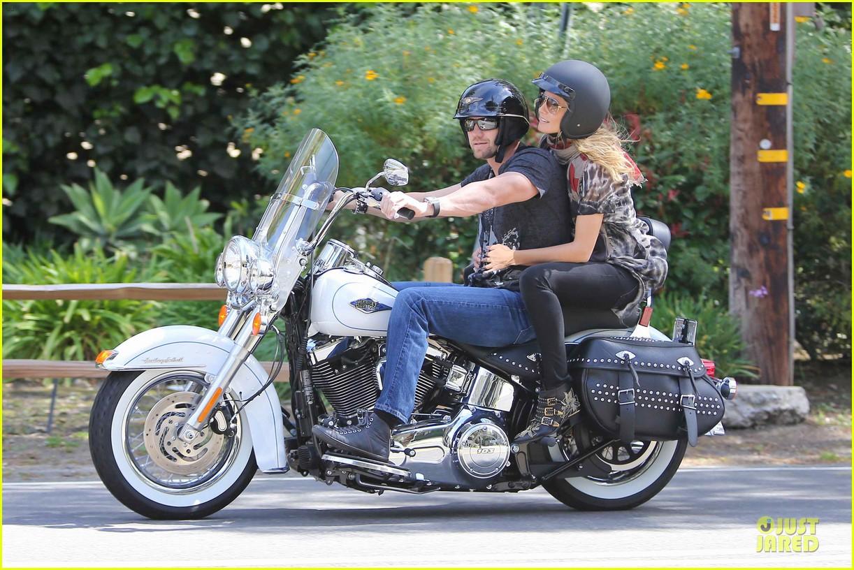 heidi klum martin kirsten brentwood motorcycle ride 372823855