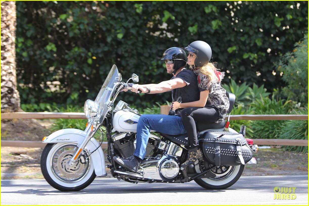 heidi klum martin kirsten brentwood motorcycle ride 382823856