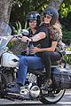 heidi klum martin kirsten brentwood motorcycle ride 02