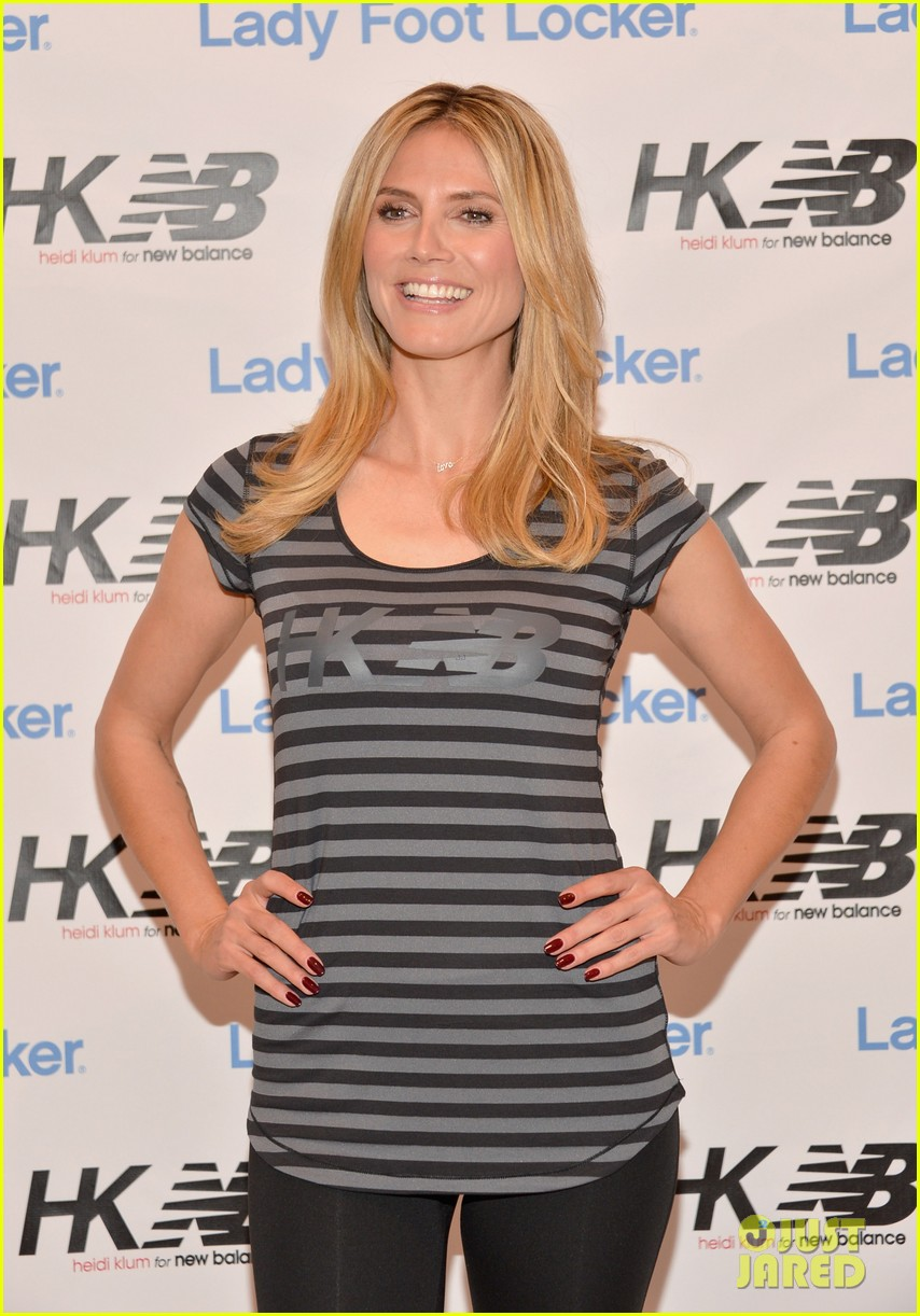 heidi klum new balance collection launch 10