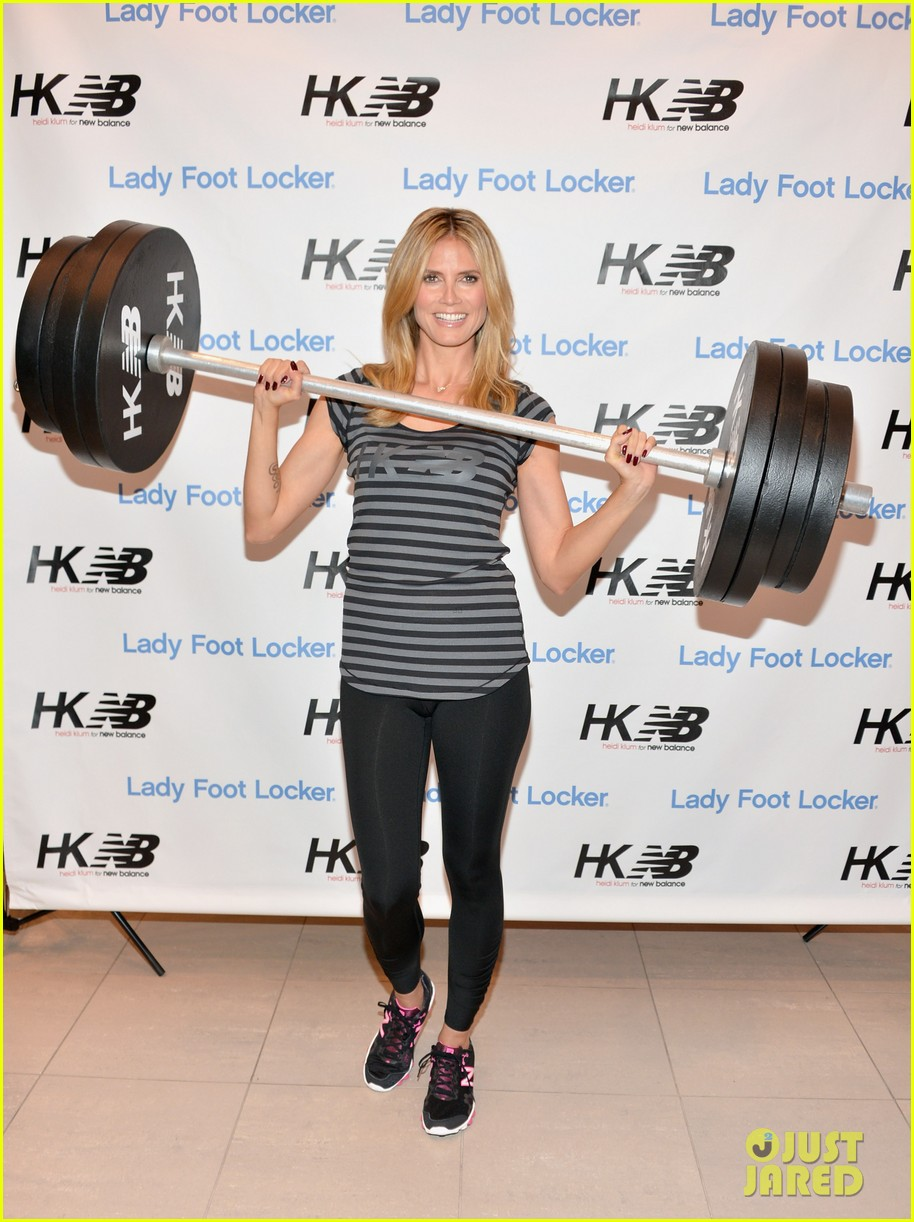 heidi klum new balance collection launch 16