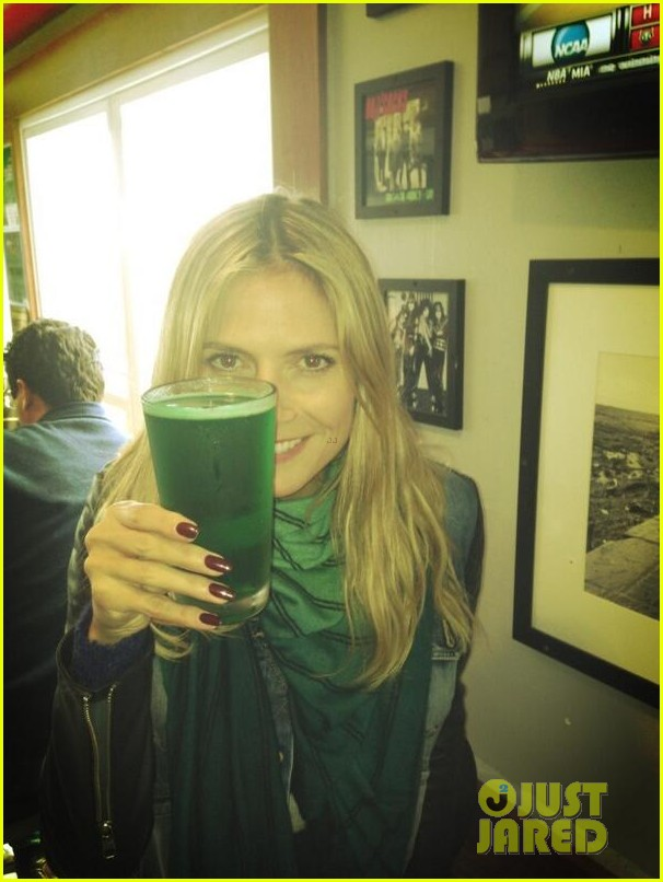 heidi klum happy st paddys day 022832605