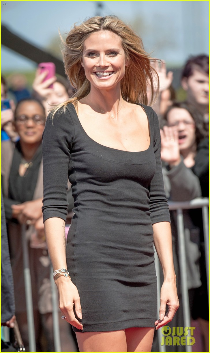 heidi klum mel b americas got talent taping 152825026
