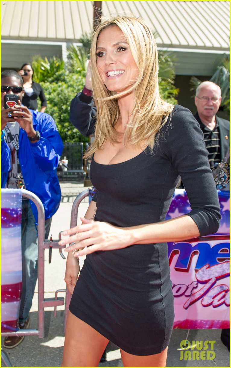 heidi klum mel b americas got talent taping 172825028