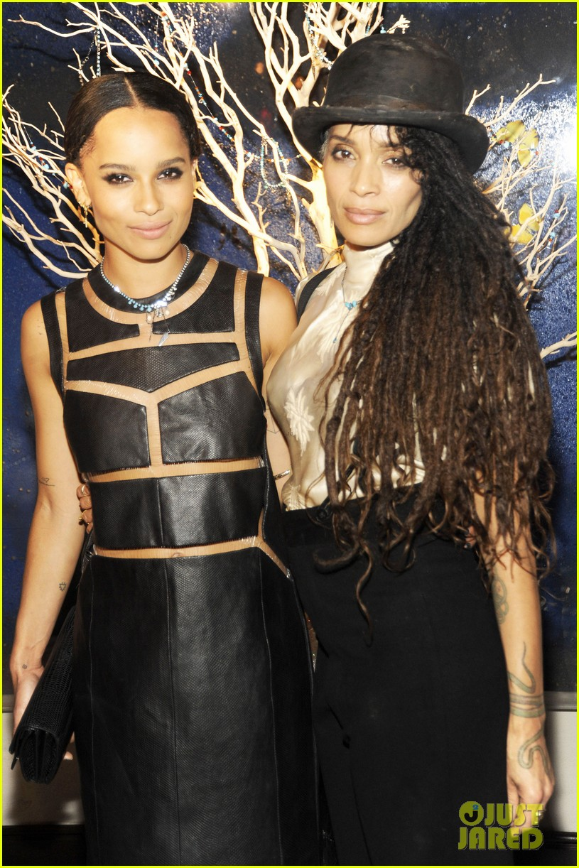 zoe kravitz swarovski crystallized launch with penn badgley 022835539