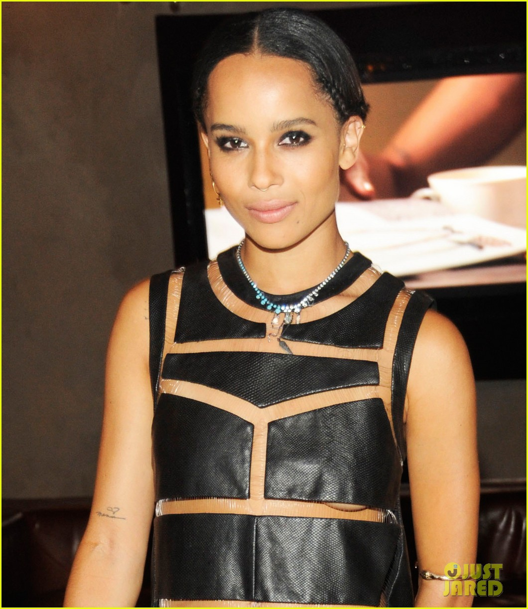 zoe kravitz swarovski crystallized launch with penn badgley 05