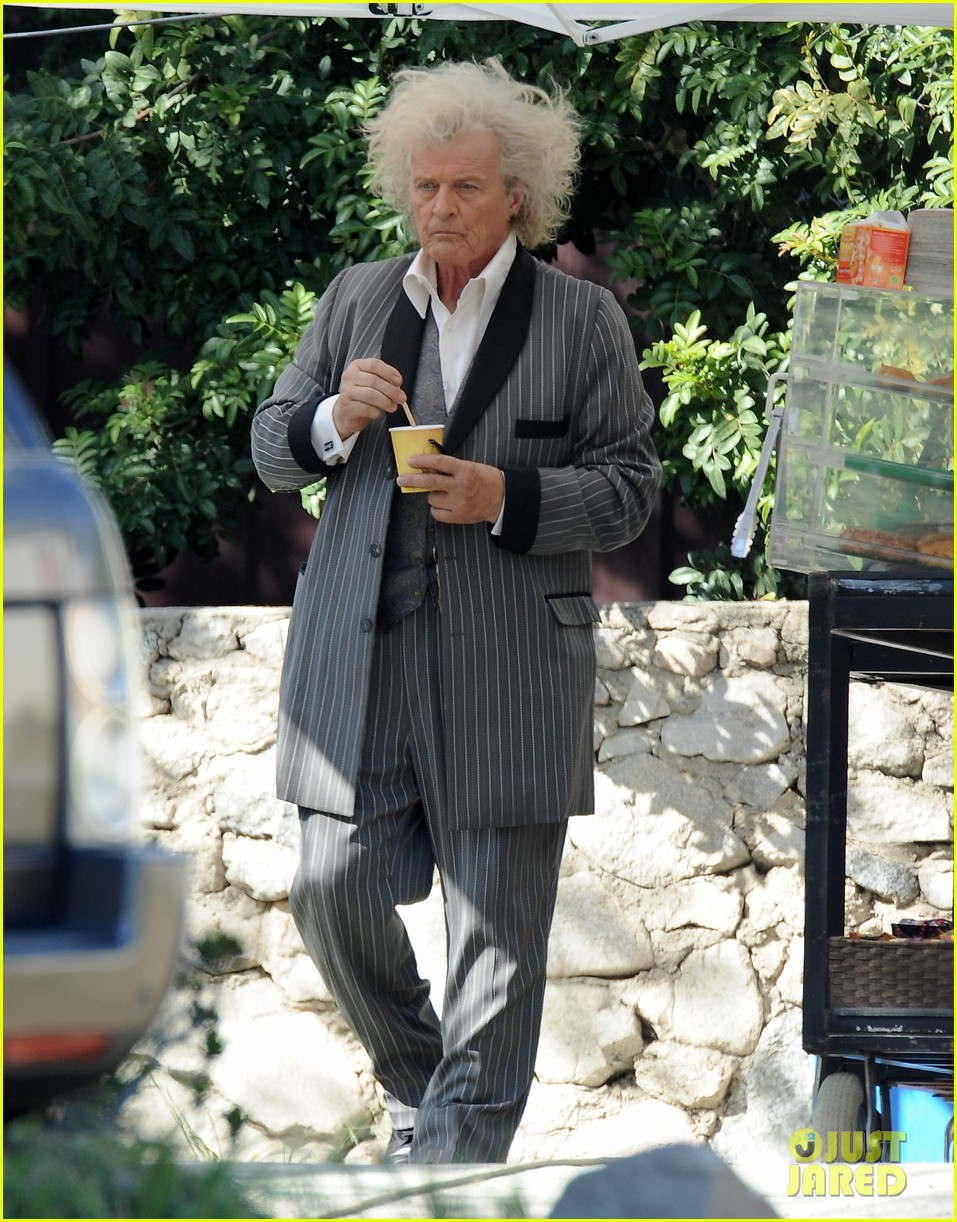 ryan kwanten true blood filming with rutger hauer 032829990