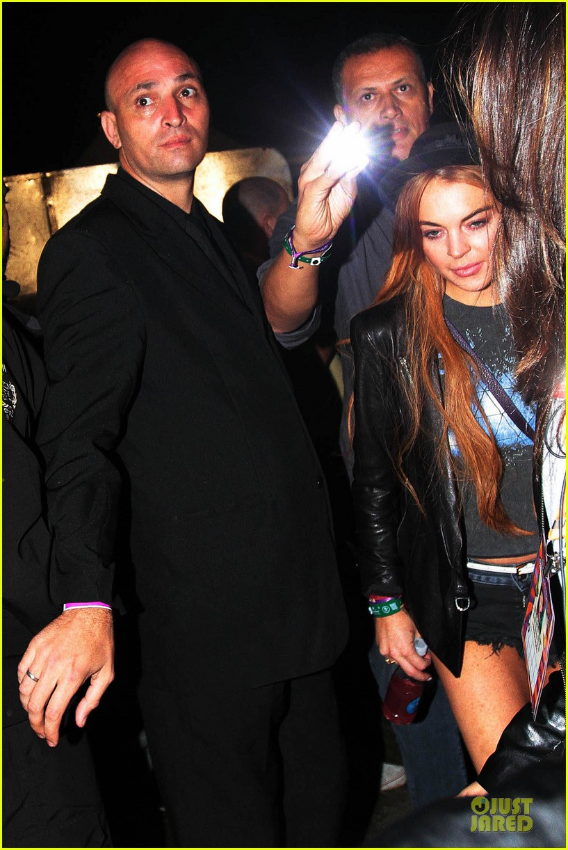 lindsay lohan late show with david letteraman in april 082840237