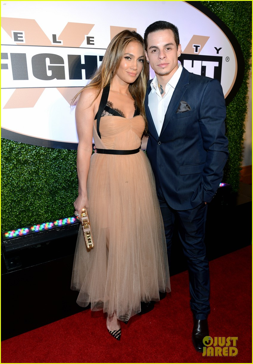 jennifer lopez celebrity fight night with casper smart 172836620