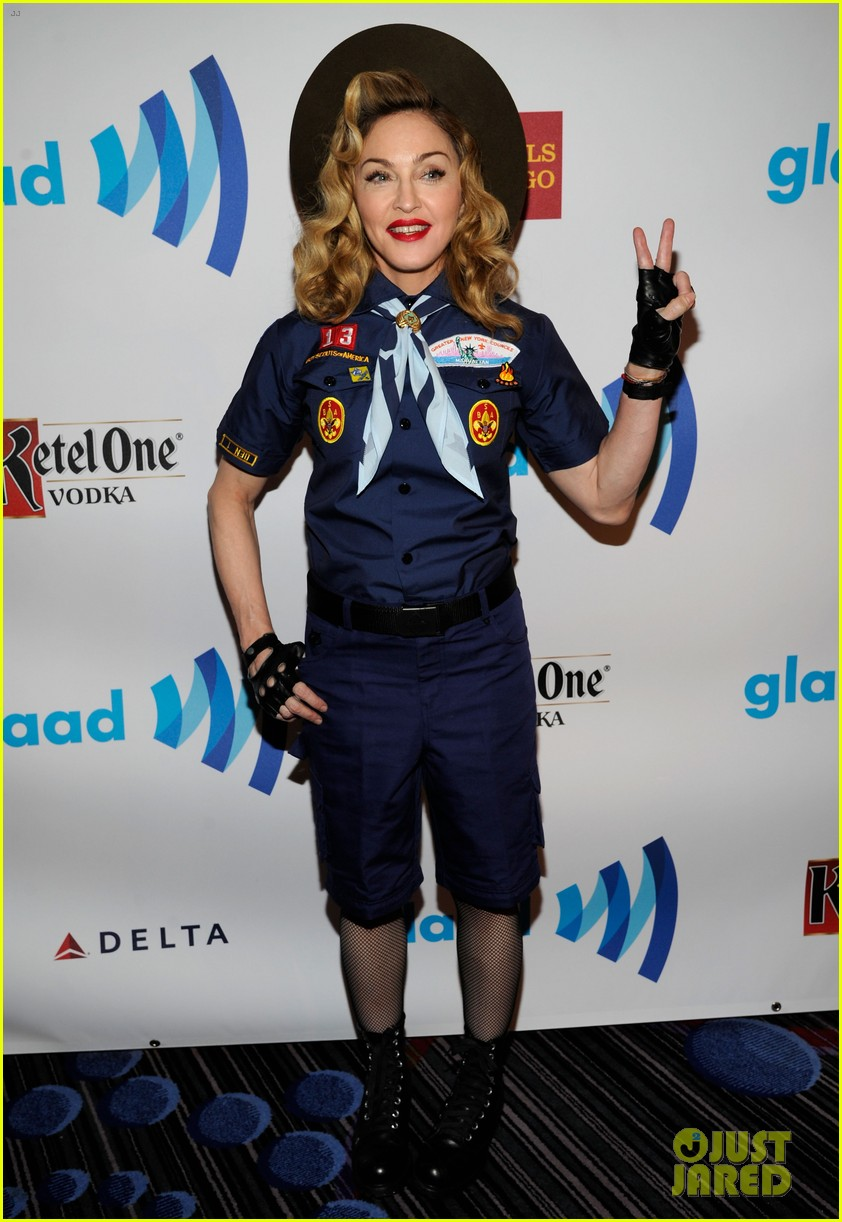 madonna boy scout costume at glaad media awards 2013 012831930