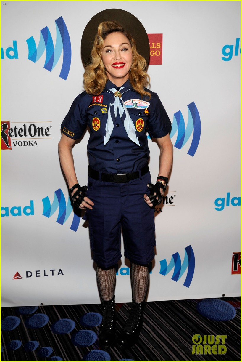 madonna boy scout costume at glaad media awards 2013 042831933