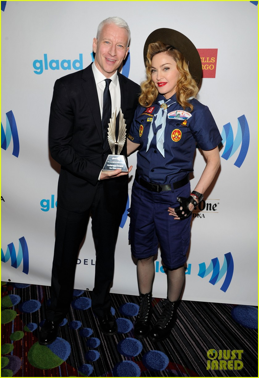 madonna boy scout costume at glaad media awards 2013 052831934
