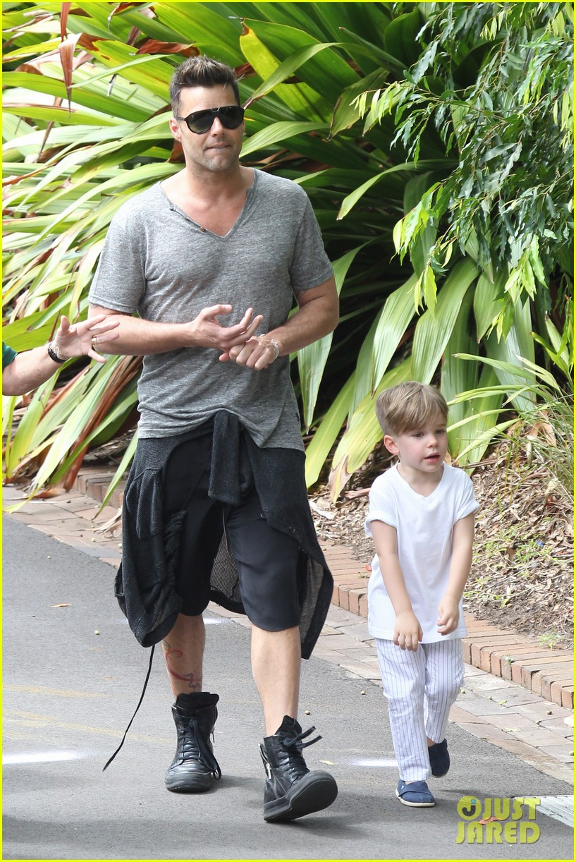 ricky martin taronga zoo with matteo and valentino 122826329