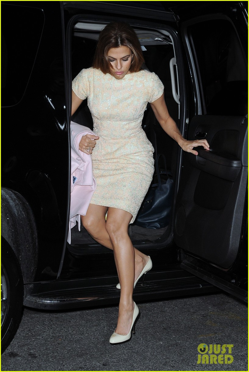 eva mendes leopard jumpsuit at private moma screening 042839050