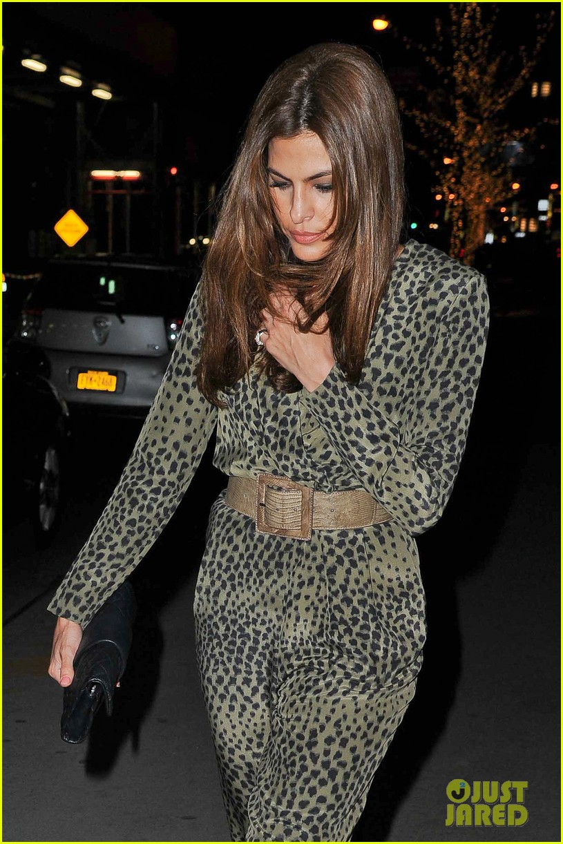 eva mendes leopard jumpsuit at private moma screening 122839058