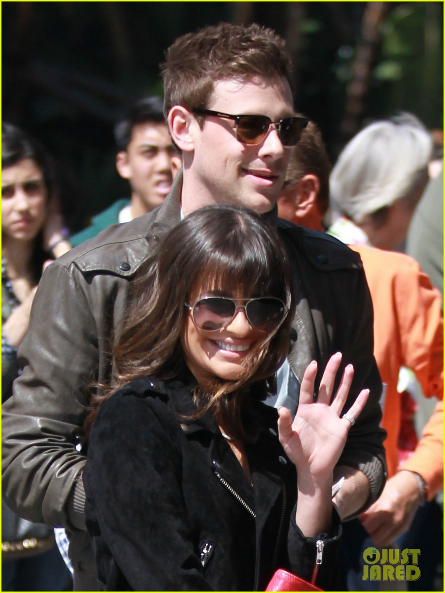 lea michele cory monteith kings game couple 022836368