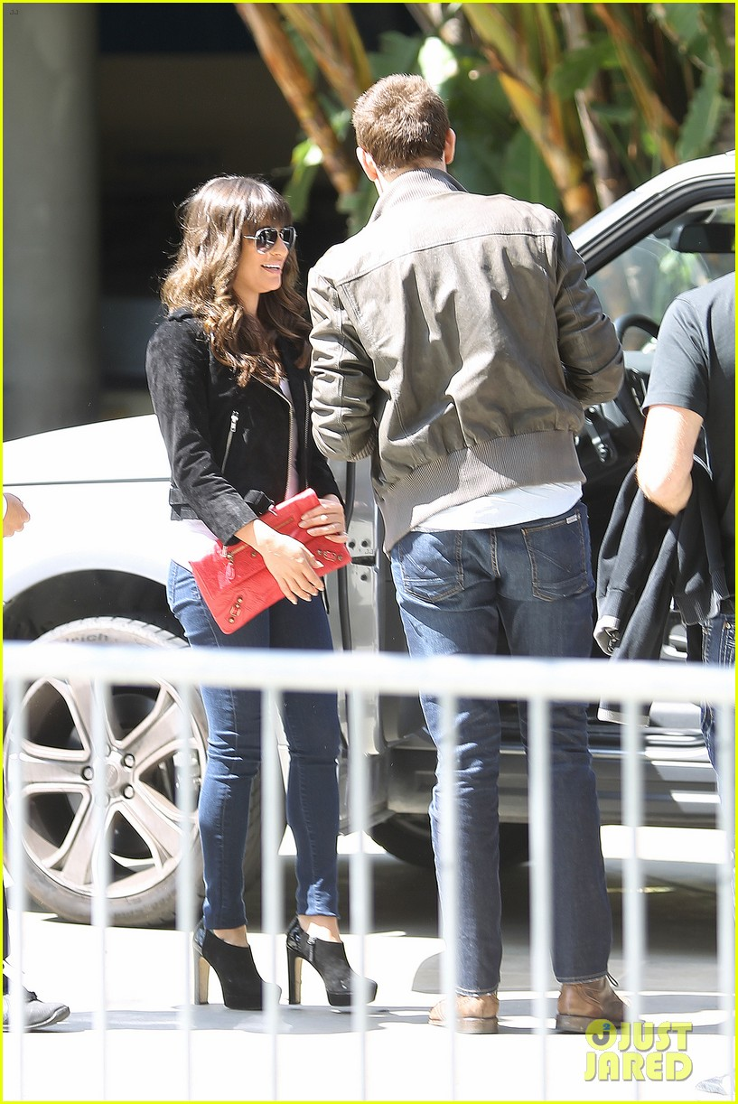 lea michele cory monteith kings game couple 032836369
