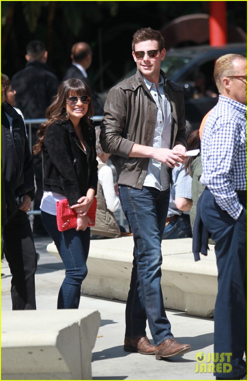 lea michele cory monteith kings game couple 052836371