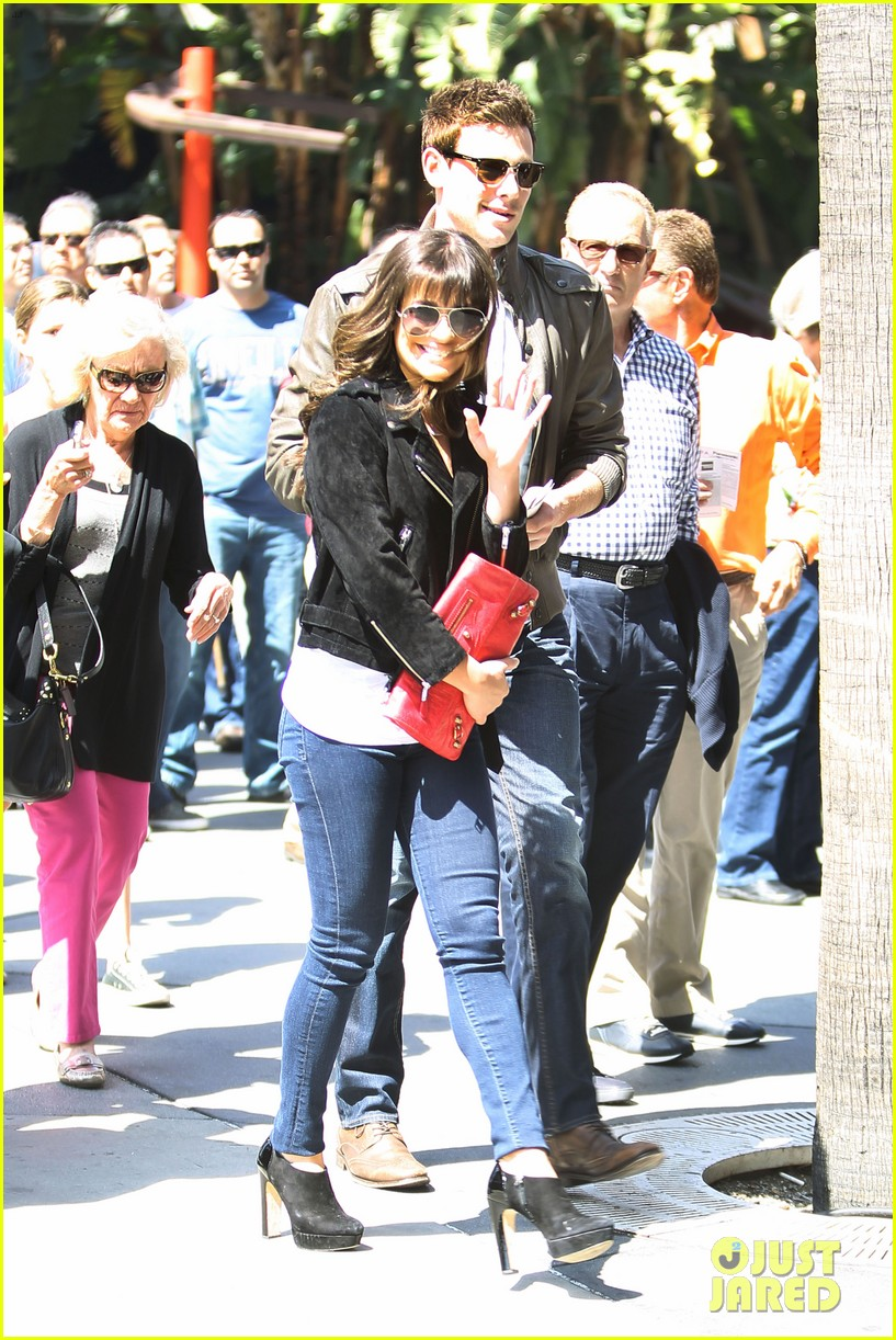 lea michele cory monteith kings game couple 092836375